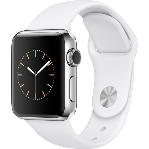 Apple Watch Series 2 38mm Smartwatch ( Stainless Steel Case, White Sport Band)