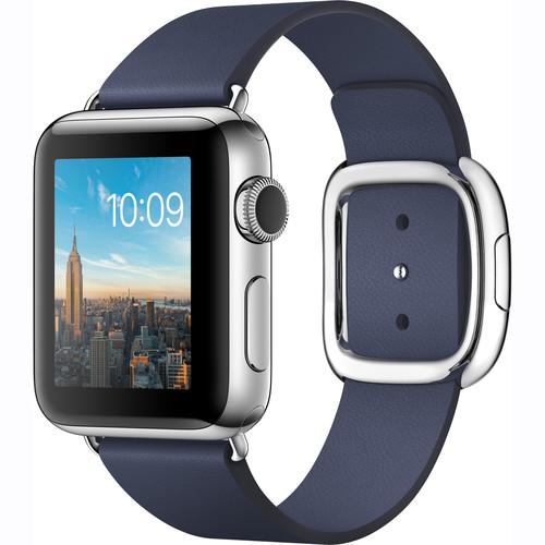 Apple Watch Series 2 38mm Smartwatch ( Stainless Steel Case, Midnight Blue Medium Modern Buckle Band)