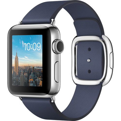 Apple Watch Series 2 38mm Smartwatch ( Stainless Steel Case, Midnight Blue Large Modern Buckle Band)