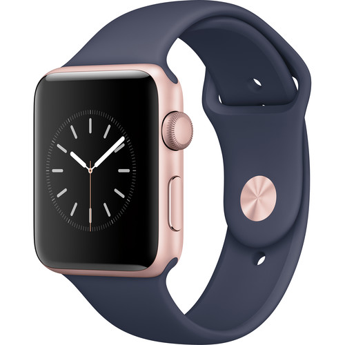 Apple Watch Series 2 42mm Smartwatch (Rose Gold Aluminum Case, Midnight Blue Sport Band)