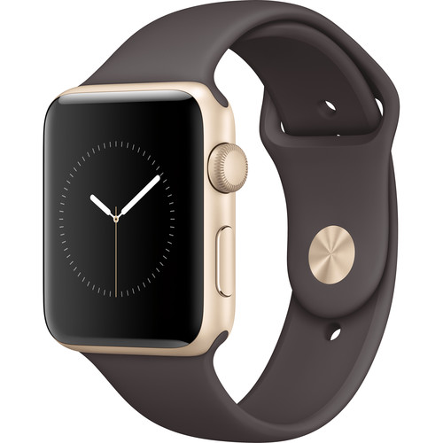 Apple Watch Series 2 42mm Smartwatch (Gold Aluminum Case, Cocoa Sport Band)