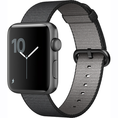 Apple Watch Series 2 42mm Smartwatch (Space Gray Aluminum Case, Black Woven Nylon Band)
