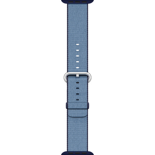 Apple Watch Woven Nylon Band (42mm, Navy/Tahoe Blue)