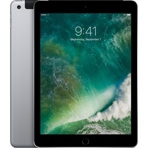 """Apple 9.7"""" iPad (2017, 128GB, Wi-Fi + 4G LTE, Space Gray)"""