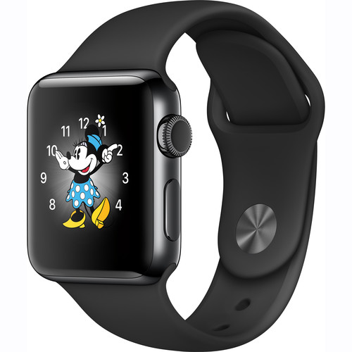 Apple Watch Series 2 38mm Smartwatch (Space Black Stainless Steel Case, Space Black Sport Band)