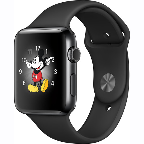 Apple Watch Series 2 42mm Smartwatch (Space Black Stainless Steel Case, Space Black Sport Band)