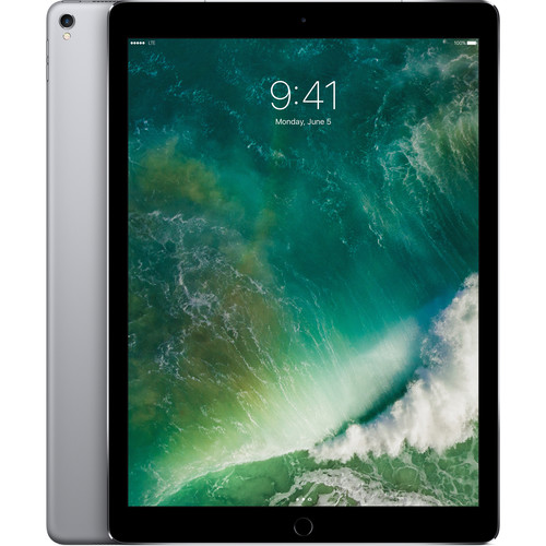 "Apple 12.9"" iPad Pro (Mid 2017, 256GB, Wi-Fi + 4G LTE, Space Gray)"