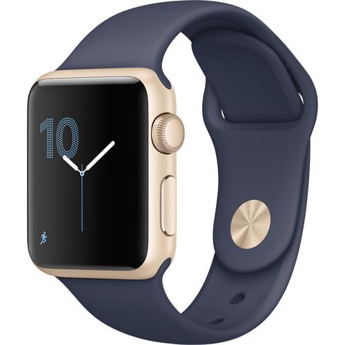 Apple Watch Series 1 38mm Smartwatch (Gold Aluminum Case, Midnight Blue Sport Band)