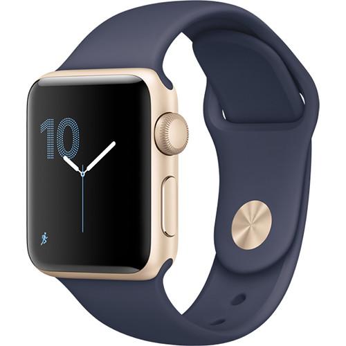 Apple Watch Series 2 38mm Smartwatch (Gold Aluminum Case, Midnight Blue Sport Band)