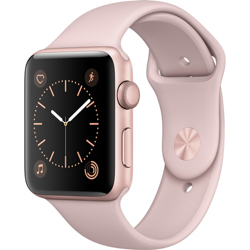 Apple Watch Series 2 42mm Smartwatch (Rose Gold Aluminum Case, Pink Sand Sport Band)