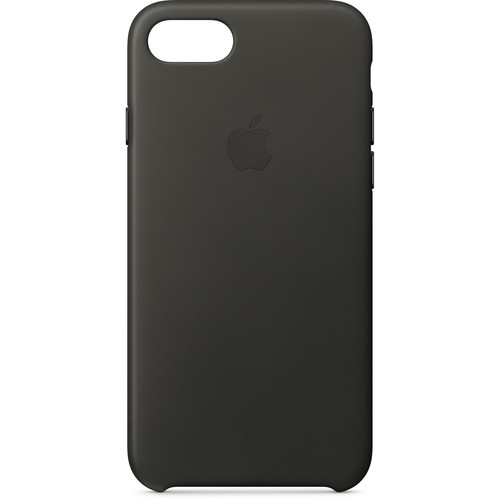 Apple iPhone 8/7 Leather Case (Charcoal Gray)