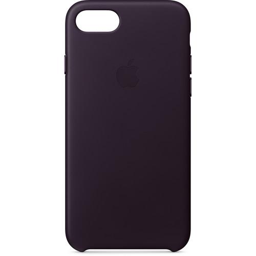 Apple iPhone 8/7 Leather Case (Dark Aubergine)