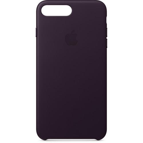 Apple iPhone 8 Plus/7 Plus Leather Case (Dark Aubergine)