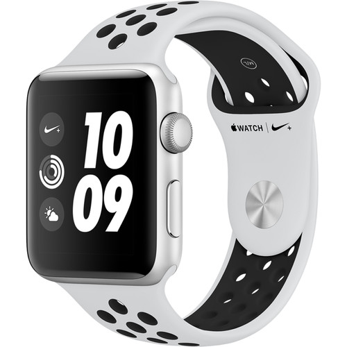 Apple Watch Nike+ Series 3 42mm Smartwatch (GPS Only, Silver Aluminum Case, Pure Platinum/Black Nike Sport Band)