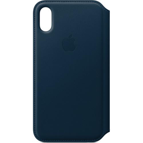 Apple iPhone X Leather Folio (Cosmos Blue)