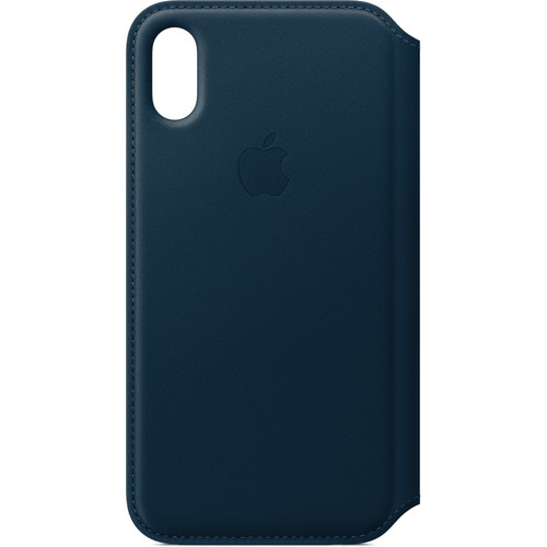 Apple Leather Folio for iPhone X (Cosmos Blue)