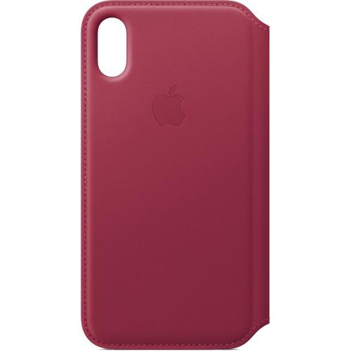 Apple iPhone X Leather Folio (Berry)
