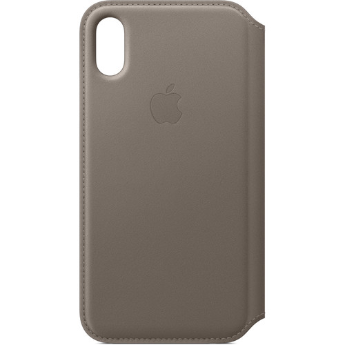 Apple Leather Folio for iPhone X (Taupe)