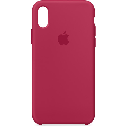 Apple iPhone X Silicone Case (Rose Red)