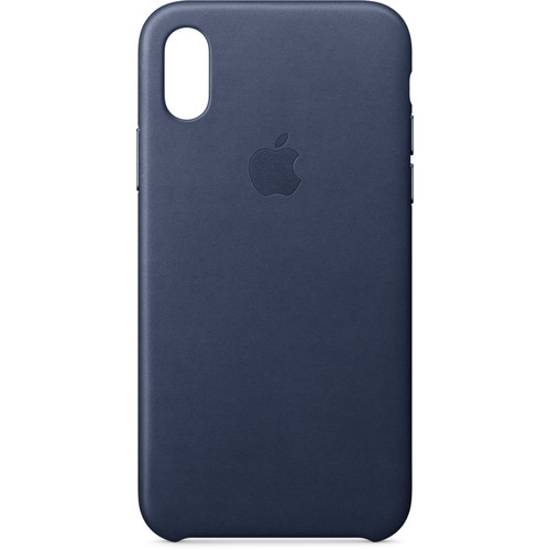 Apple iPhone X Leather Case (Midnight Blue)