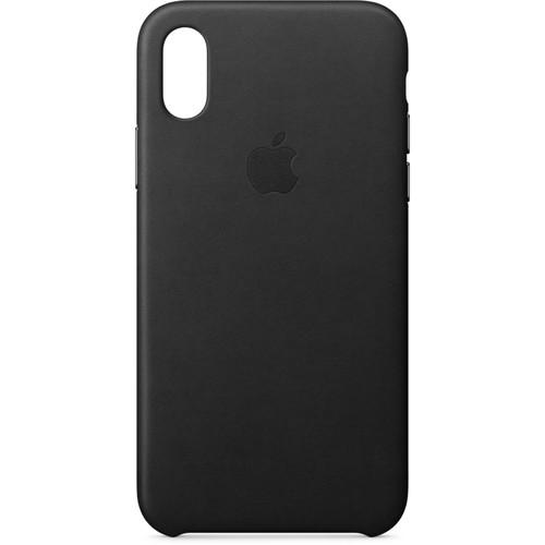Apple iPhone X Leather Case (Black)