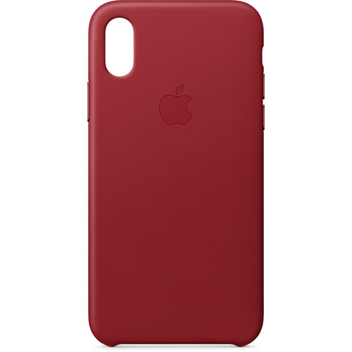 Apple iPhone X Leather Case ((PRODUCT)RED)