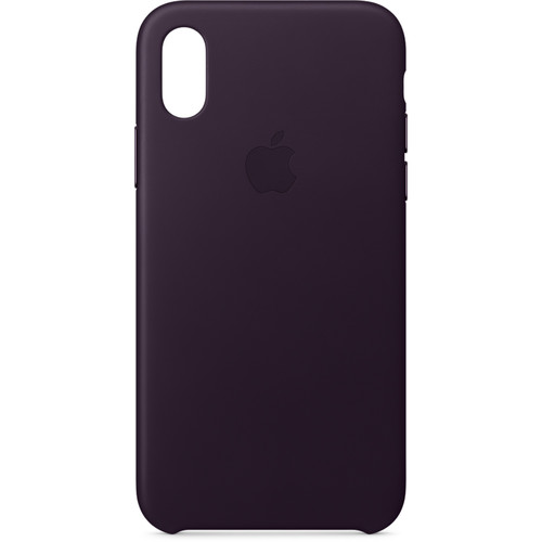 Apple iPhone X Leather Case (Dark Aubergine)