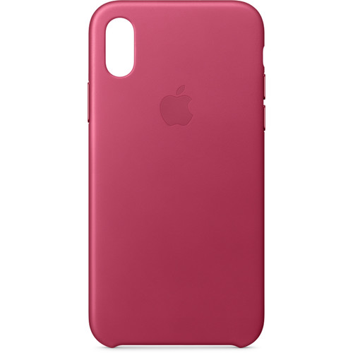 Apple iPhone X Leather Case (Pink Fuchsia)