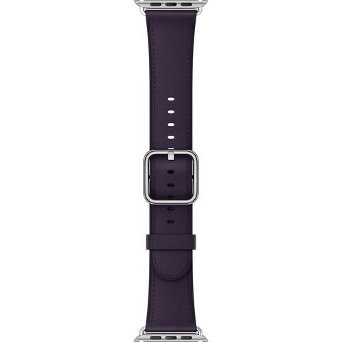 Apple Watch Classic Buckle Band (42mm, Dark Aubergine)
