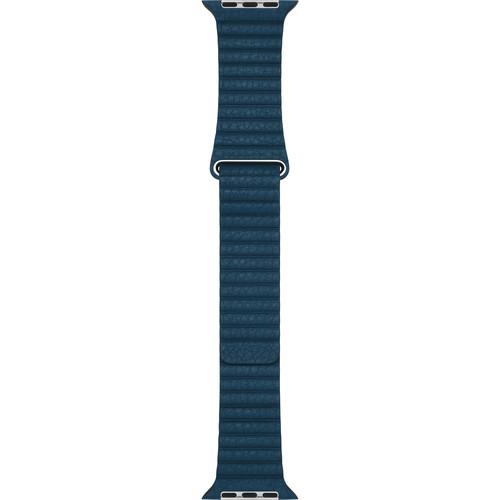 Apple Apple Watch Leather Loop (42mm, Cosmos Blue, Medium)