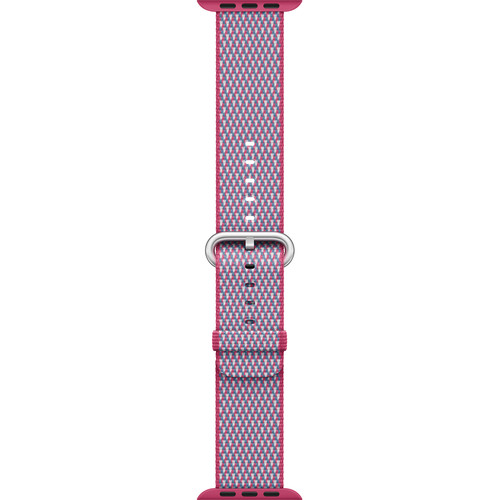 Apple Watch Woven Nylon Band (38mm, Berry Check)