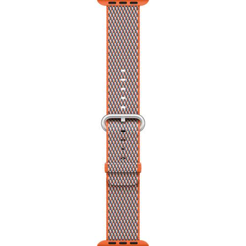 Apple Watch Woven Nylon Band (38mm, Spicy Orange Check)