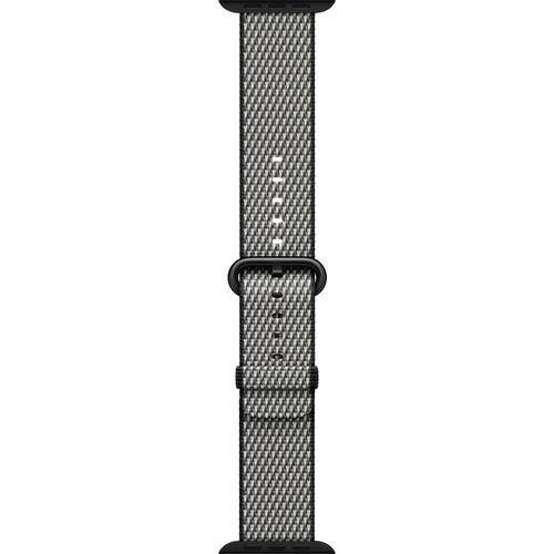 Apple Watch Woven Nylon Band (42mm, Black Check)