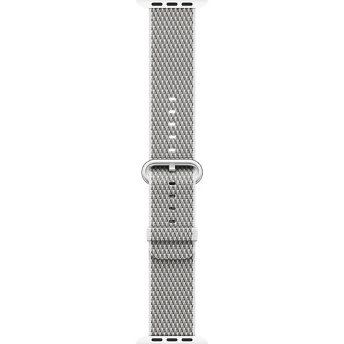 Apple Watch Woven Nylon Band (42mm, White Check)