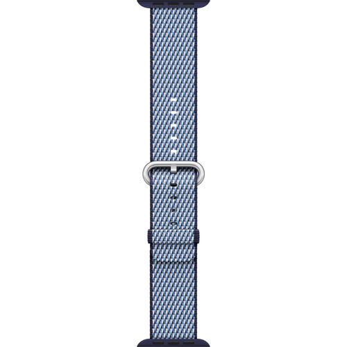 Apple Watch Woven Nylon Band (42mm, Midnight Blue Check)