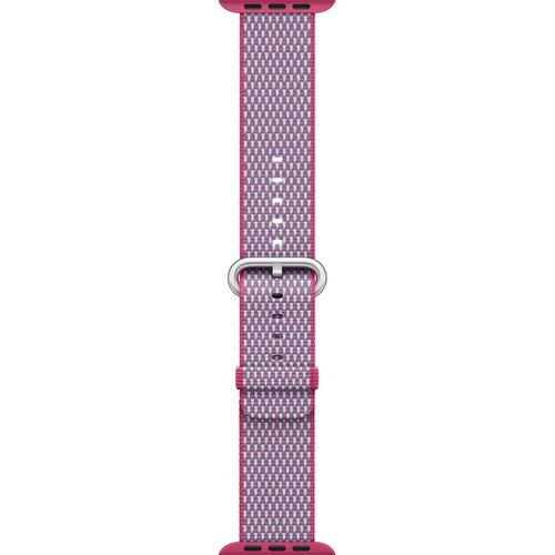 Apple Watch Woven Nylon Band (42mm, Berry Check)