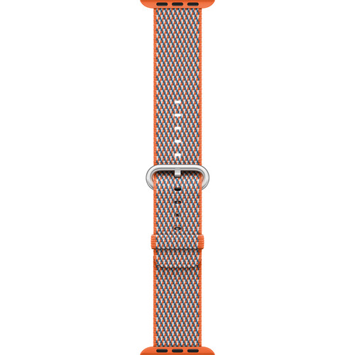 Apple Watch Woven Nylon Band (42mm, Spicy Orange Check)