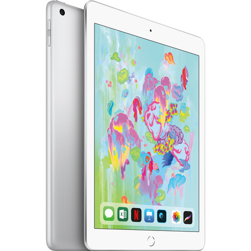 """Apple 9.7"""" iPad (Early 2018, 32GB, Wi-Fi + 4G LTE, Silver)"""