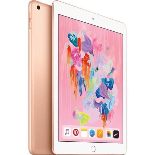 """Apple 9.7"""" iPad (Early 2018, 32GB, Wi-Fi + 4G LTE, Gold)"""