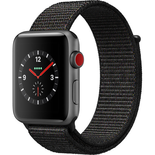 Apple Watch Series 3 42mm Smartwatch (GPS + Cellular, Space Gray Aluminum Case, Gray Sport Loop)