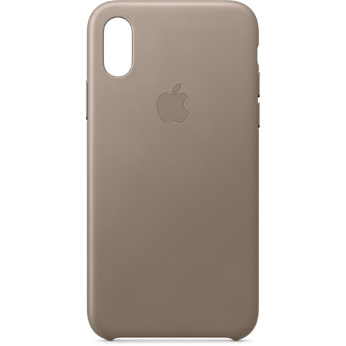 Apple iPhone Xs Leather Case (Taupe)