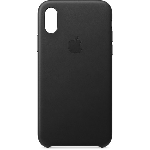Apple iPhone Xs Leather Case (Black)