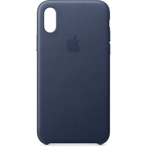 Apple iPhone Xs Leather Case (Midnight Blue)