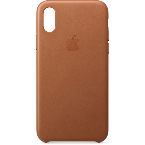 Apple iPhone Xs Leather Case (Saddle Brown)