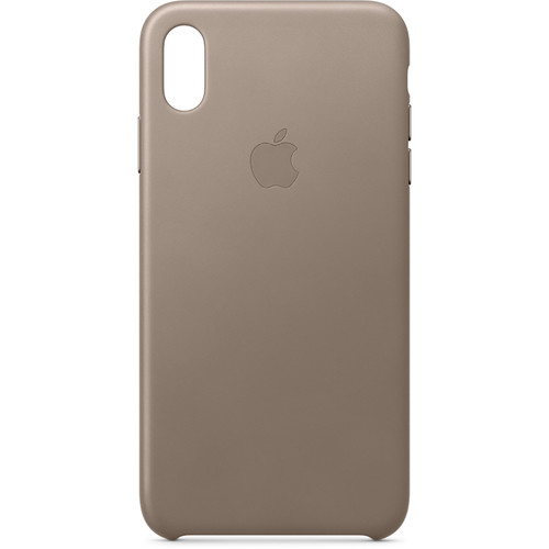 Apple iPhone Xs Max Leather Case (Taupe)