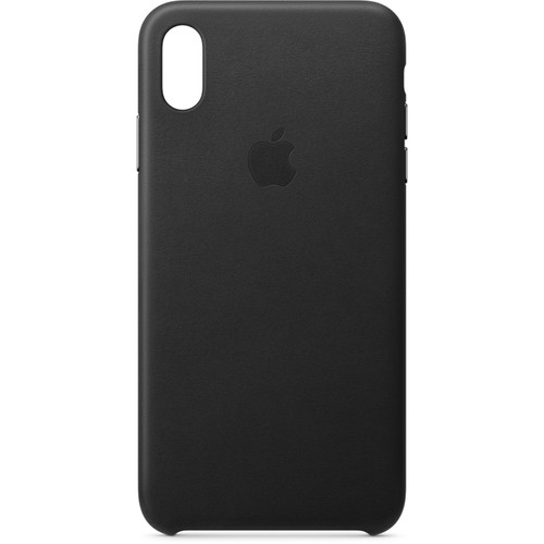 Apple iPhone Xs Max Leather Case (Black)