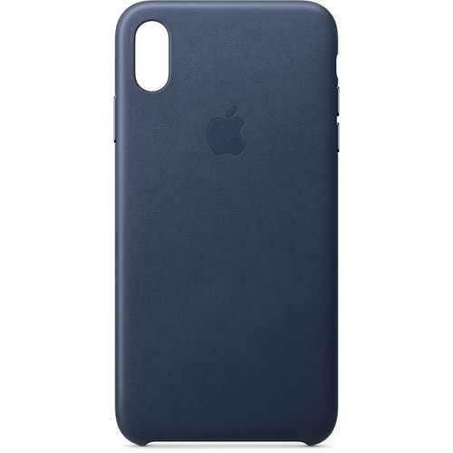 Apple iPhone Xs Max Leather Case (Midnight Blue)