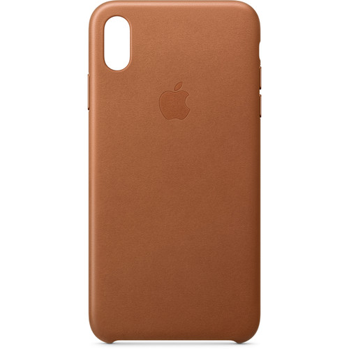 Apple iPhone Xs Max Leather Case (Saddle Brown)