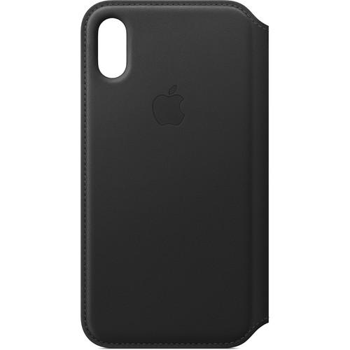 Apple iPhone Xs Leather Folio Case (Black)