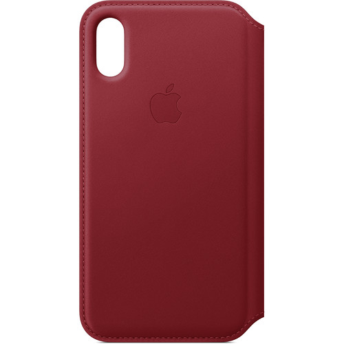 Apple iPhone Xs Leather Folio Case ((PRODUCT) RED)